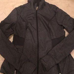 Old Navy grey zip up stretch jacket